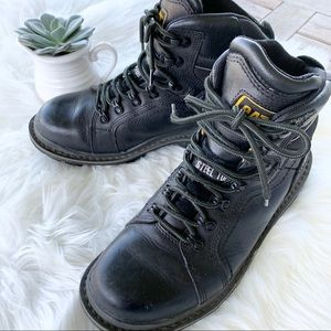"CATERPILLAR Steel Toe Manifold 6"" Black Boots 10"